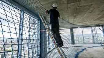 Baloise Park: Begehung der Baustelle