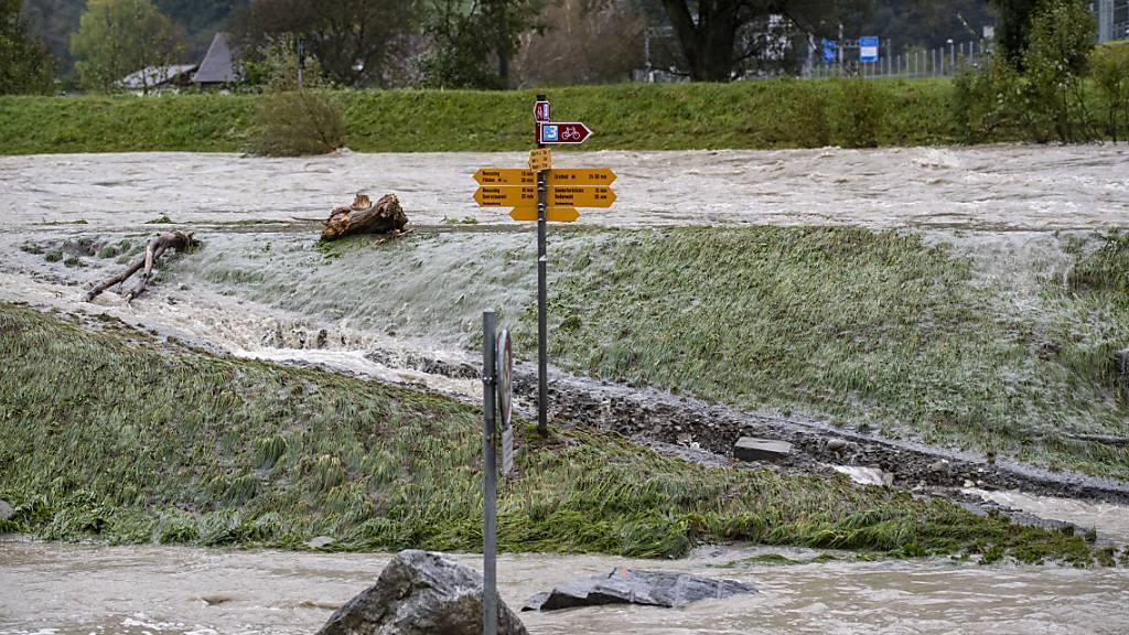Im Kanton Uri kam es am Wochenende zu Überschwemmungen - in der Gemeinde Realp wurde das Trinkwasser verschmutzt.