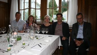 Der Grenchner Stadt-Präsident François Scheidegger genoss den Abend mit seiner Frau Veronika, Stiftungsratspräsident Lukas Bäumle (r.) sowie Marcel und Rosmarie Chatelain.