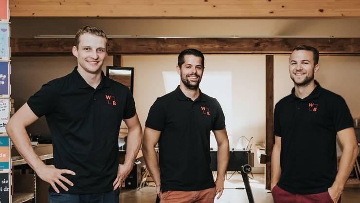 Das Gründertrio: Jérôme Huber, Patrick und Luca Tschudi.