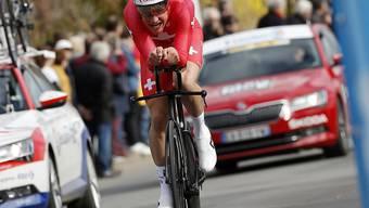 Stefan Küng verpasste beim letztjährigen EM-Zeitfahren in Alkmaar eine Medaille lediglich um 17 Hundertstel
