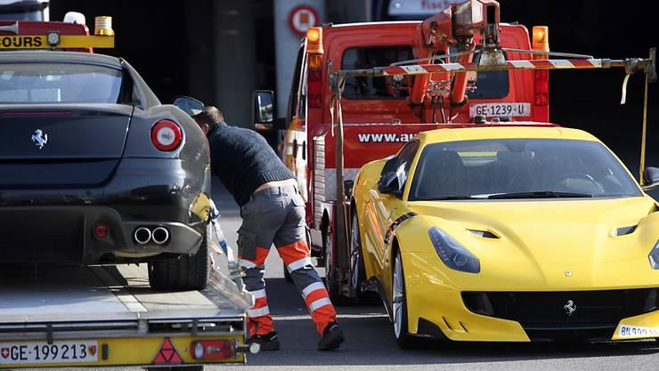 Elf Luxusautos des Präsidentensohns von Äquatorialguinea haben die Genfer Behörden beschlagnahmt, darunter auch zwei Ferrari-Sportwagen.