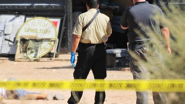 Polizisten am Tatort in Yuma, Arizona