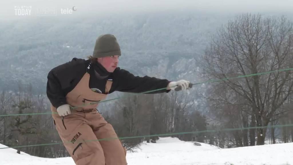 Freestyler funktioniert Roller zu Skilift um