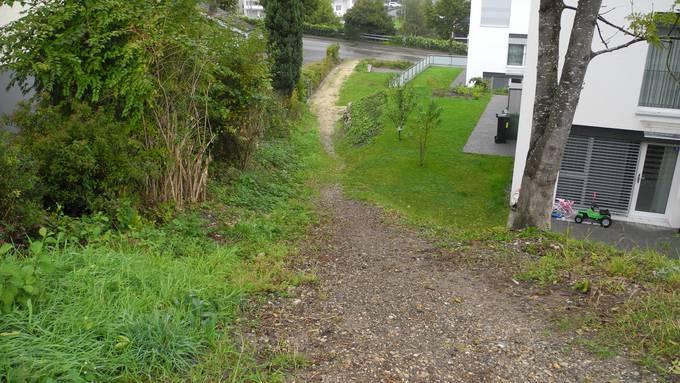Die Fussgängerverbindung zwischen Eschenweg und Schlachthausstrasse in Grenchen muss weiter warten.