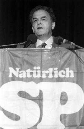 An einem SP-Sonderparteitag wurde 1984 über den Verbleib im Bundesrat entschieden.