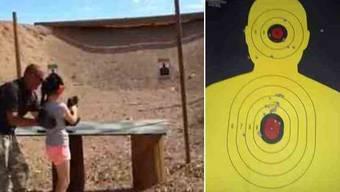 Rechts: Die Zielscheibe des Opfers einer Schiessübung im März.