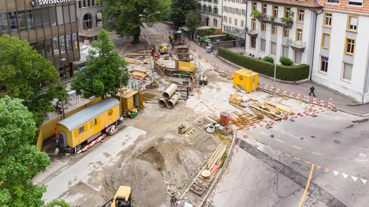 Der Postplatz in Solothurn soll bis im August 2021 umgestaltet sein.