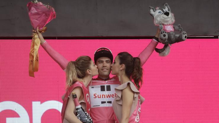 Tom Dumoulin wird mit seinem Sieg auch erster Gesamtführender des Giro 2018.