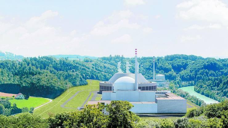 Das bisherige Atomkraftwerk soll durch ein neues, leistungsfähigeres ersetzt werden. (Montage)