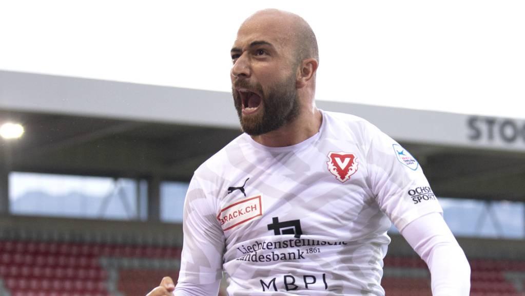 Tunahan Cicek, Kämpfer im Tenü des FC Vaduz - und neuerdings auch wieder Torschütze.