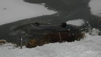 Die Lenkerin konnte sich noch rechtzeitig aus dem Auto und ans Ufer retten: Sie wurde nass, blieb aber unverletzt.