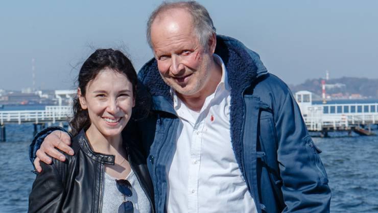 "Sibel Kekilli (l) und Axel Milberg bilden das ""Tatort""-Team in Kiel. Im März 2017 ermittelt Kekilli zum letzten Mal (Archiv)"