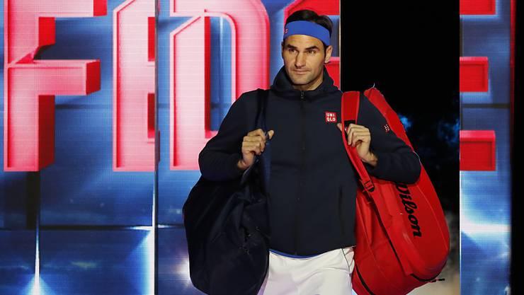 Zum 16. Mal bei den ATP Finals dabei: Vor dem zweiten Spiel gegen Dominic Thiem musste sich Roger Federer selber daran erinnern, welch ein Privileg es ist, in London dabei zu sein.