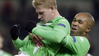 Wolfsburger Torschützen: De Bruyne (l.) und Naldo