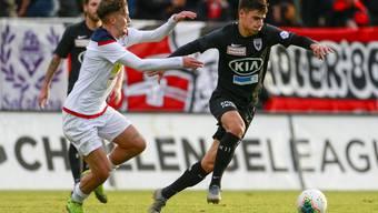 Fussball, Challenge League, 18. Runde,  FC Aarau - FC Chiasso (15. Dezember. 19)