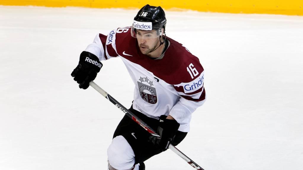 Kaspars Daugavins nahm mit Lettland bereits zehnmal an Weltmeisterschaften teil