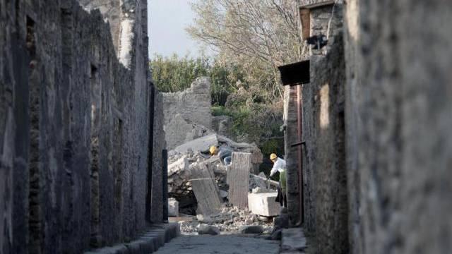 Vernachlässigt: Das ehemalige Gladiatorenhaus stürtzte 2010 ein