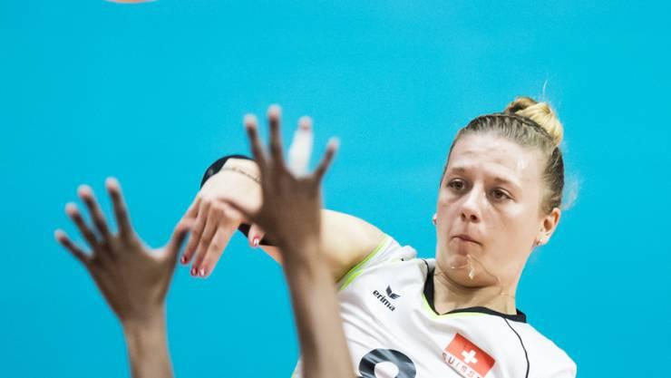 In Abwesenheit von Captain Laura Künzler war Maja Stock (im Bild) mit 15 Punkten die beste Skorerin im Schweizer Team