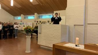 Dorothea Neubert bei ihrem Abschiedsgottesdienst.