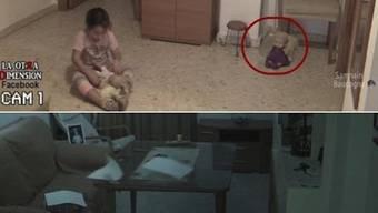 Erst bewegt die Puppe den Kopf, dann machen sich die Blätter selbstständig – dieses Video ängstigt nicht nur das Mädchen.