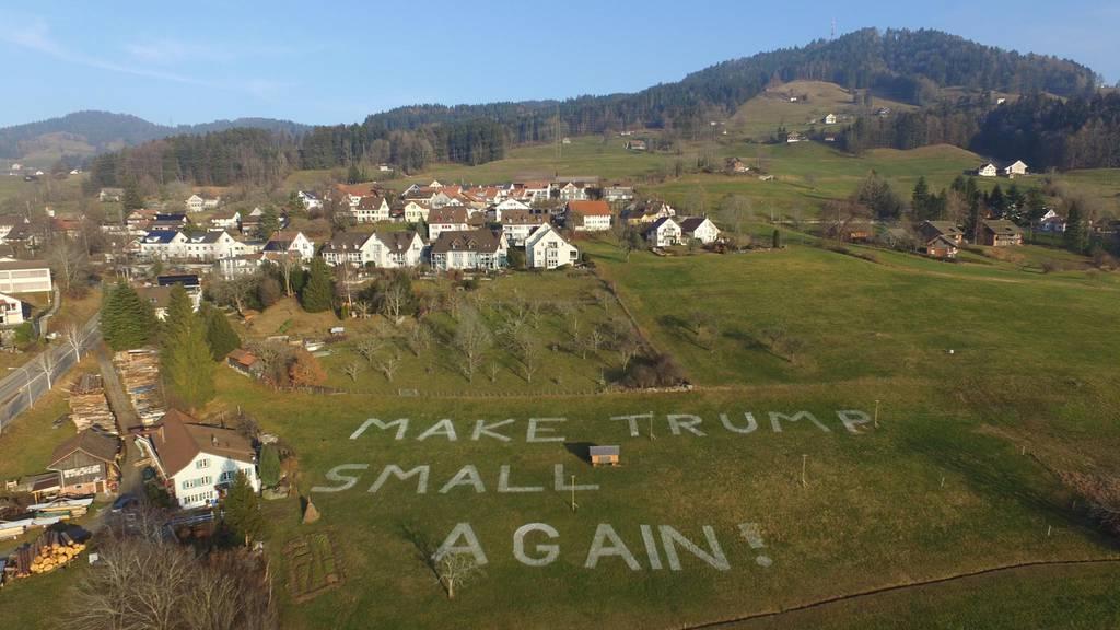 Trump-Protest im Zürioberland