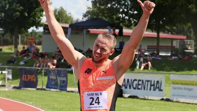 (Archiv) Silvan Wicki beim SVM 2018 Quelle: Hans Spielmann / BTV Aarau Athletics