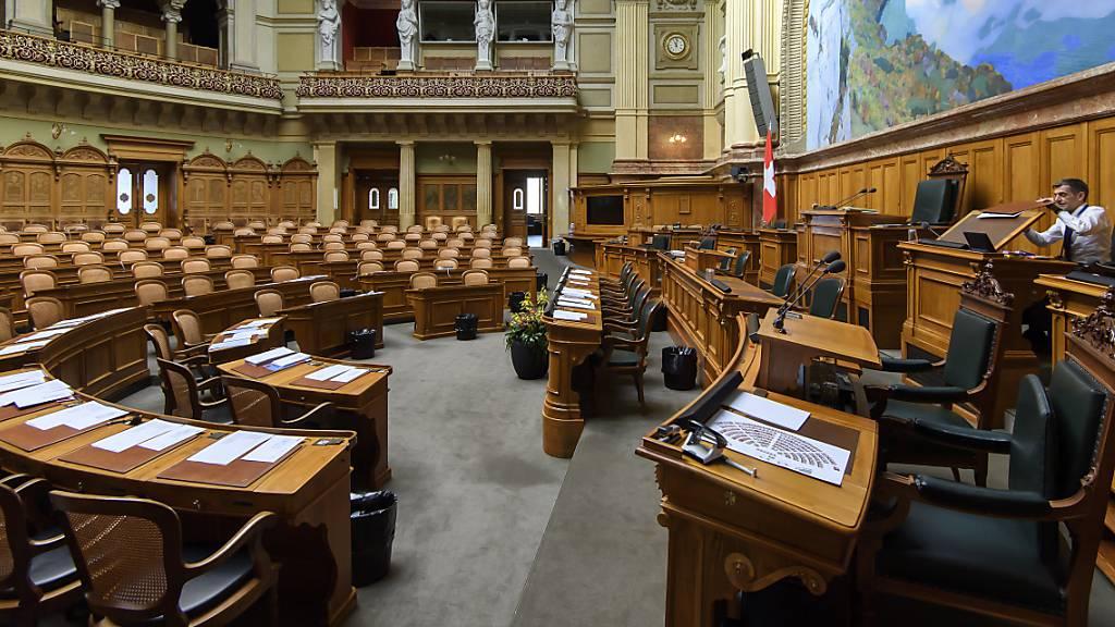 Das Parlament trifft sich ab 4. Mai zu ausserordentlicher Session