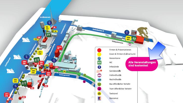 Plan des Hafenfests