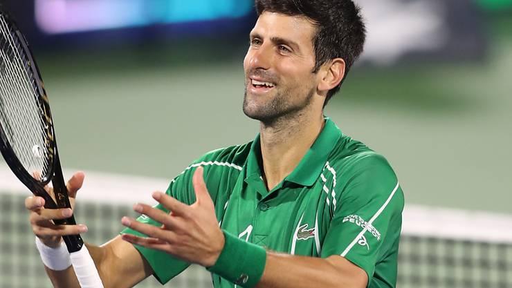 Novak Djokovic lässt in Sachen Tennis im Jahr 2020 bisher nichts anbrennen