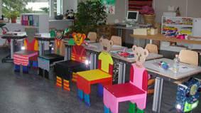 Ein Klassenzimmer der Heilpädagogischen Schule in Döttingen.