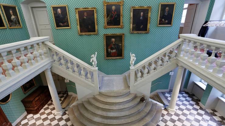 Das Treppenhalle im Solothurner Stadthaus der Familie von Roll.