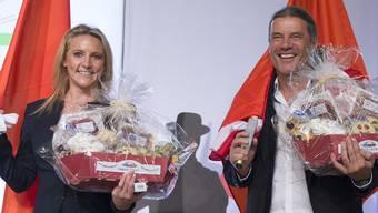 Céline Amaudruz und Oskar Freysinger: Zwei SVP-Gesichter in der Romandie, die für Schlagzeilen sorgten.