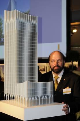Hermann Beyeler, als er vor zehn Jahrenseinen Ceres-Towerankündigte.