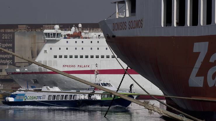 Die Fähren in der Ägäis bleiben auch am Donnerstag im Hafen: Die griechischen Seeleute führen ihren Streik fort.