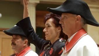 Ruth Humbel (CVP) wurde 2003 zu Beginn der Herbstsession im Nationalrat vereidigt.