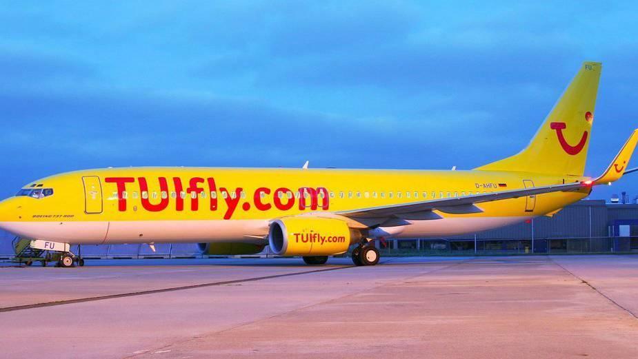 Eine Boeing 737-800 der Airline TUIFly. Diese bleibt am Freitag am Boden.