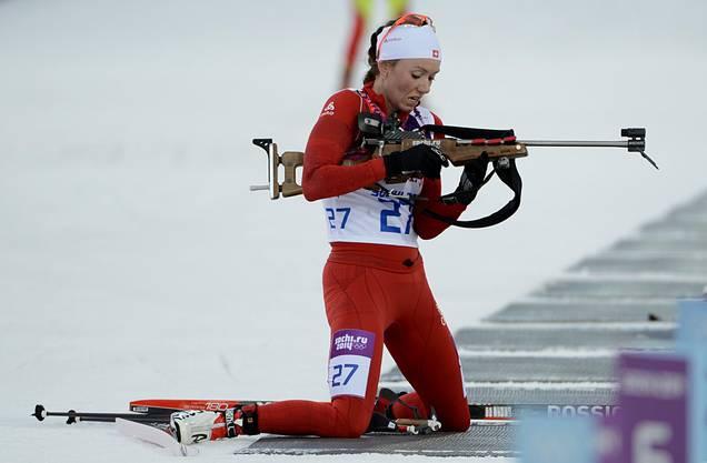 Selina Gasparin gewinnt im Biathlon die Silbermedaille