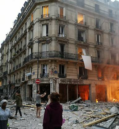 Der Augenblick kurz nach der Explosion.
