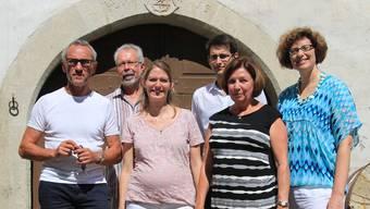 Das Team der Mühle (von links): Patrice Gilly, Ernst Eggenschwiler, Muriel Gabathuler, Jonas Gassmann, Jeannette Lippuner und Barbara Schlatter. PHE
