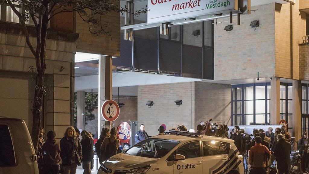 Geiselnahme im Supermarkt in Brüssel: Polizei nimmt Verdächtigen fest.