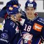 Das entscheidende ZSC-Duo: Raphael Prassl (re.) und Justin Sigrist schossen die beiden Tore zum 2:0-Sieg der Zürcher gegen Servette