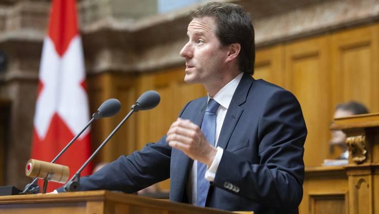 Thomas Aeschi, Fraktionschef der SVP. Mit 74 Mitgliedern führt Aeschi die stärkste Fraktion an.
