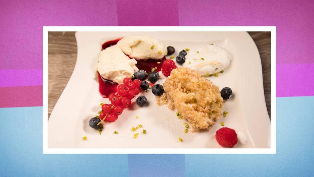 Das Dessert: Dreierlei Topfennockerl