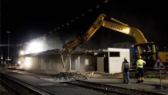 Vor zwei Jahren wurde das alte Bahnhofsgebäude West abgebrochen. Bild: Dominic Kobelt (4. April 2017)