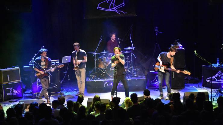 Die Badener Band The Pedestrians – hier an ihrem Konzert im Januar dieses Jahres – weiss die Qualität des Nordportals als Konzerthalle zu schätzen.