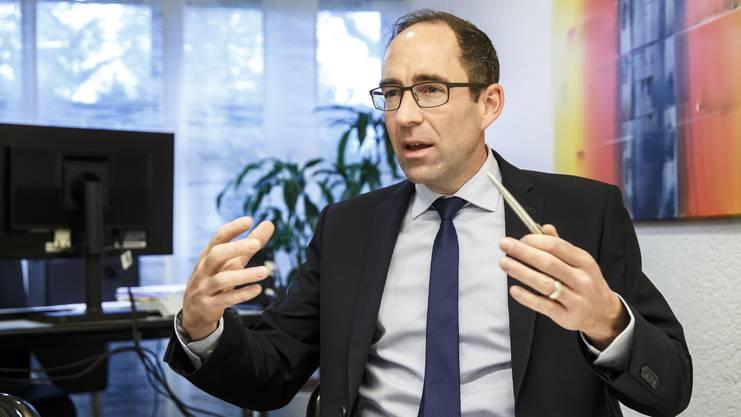 Reto Egger,Leiter der Regiobank-Geschäftsstelle in Zuchwil