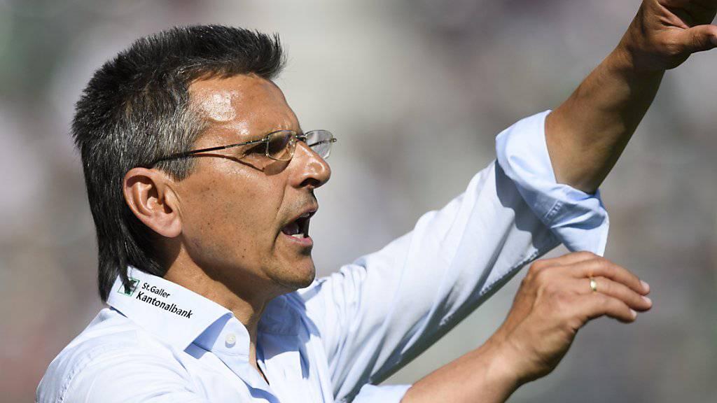Boro Kuzmanovic muss alles aus der St. Galler Mannschaft herausholen