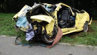Das Unfallauto (Bildquelle: Kripo Freiburg)