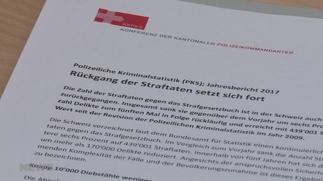 Rückläufige Straftaten im Kanton Bern
